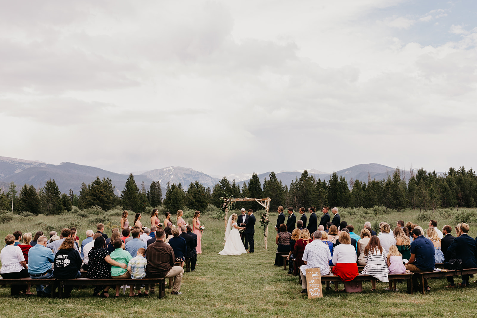 A rocky mountain wedding ceremony