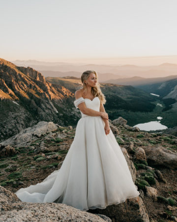 Bride during her Rocky Mountain wedding