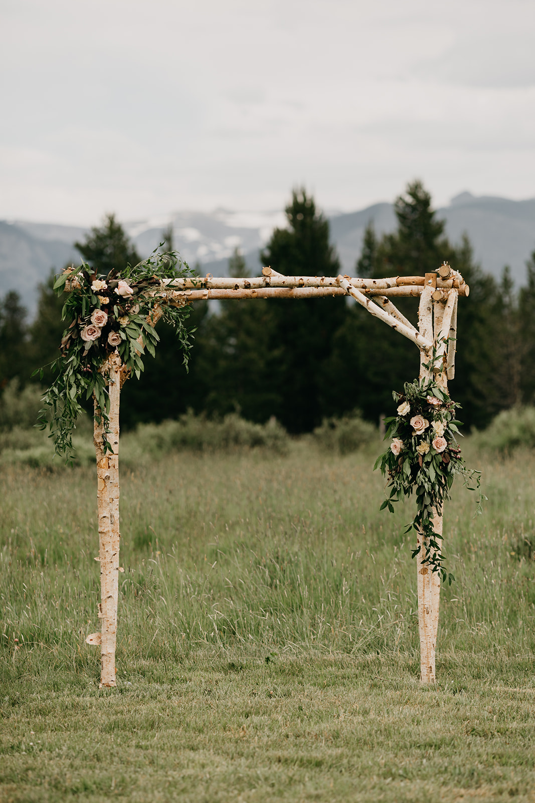 Wedding arch for a Grand Lake, CO wedding