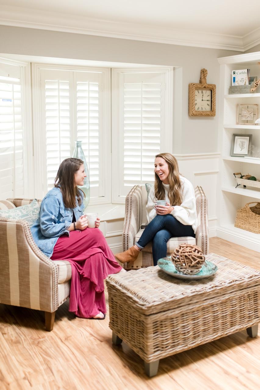 Entrepreneurs enjoying coffee and talking