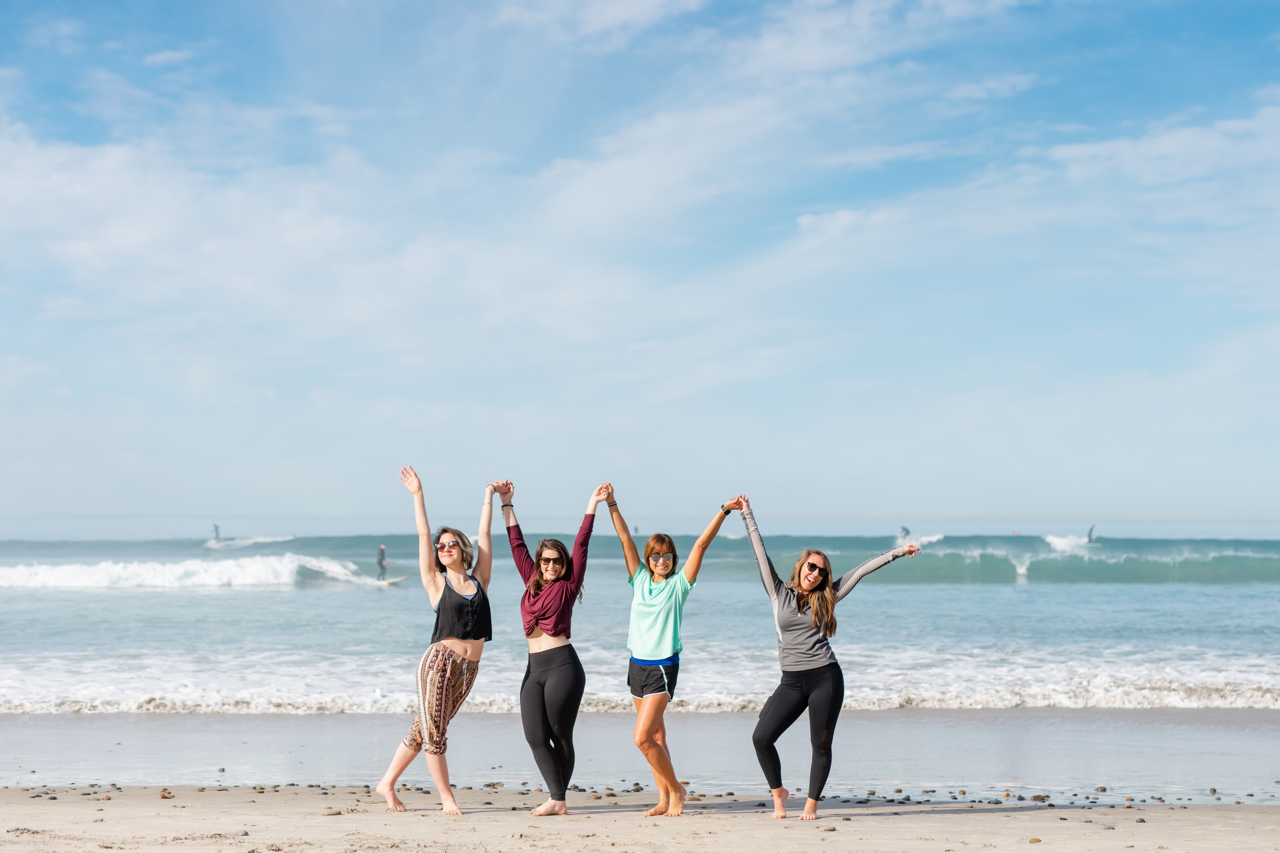 Girls celebrating during a San Diego business retreat