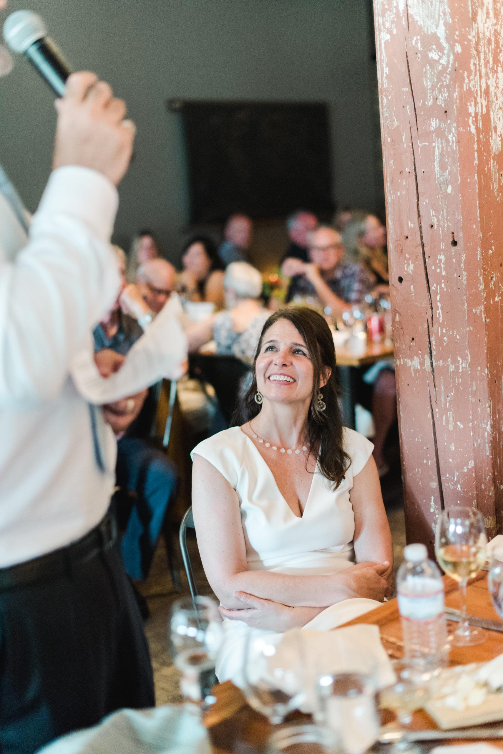 A groom giving a toast