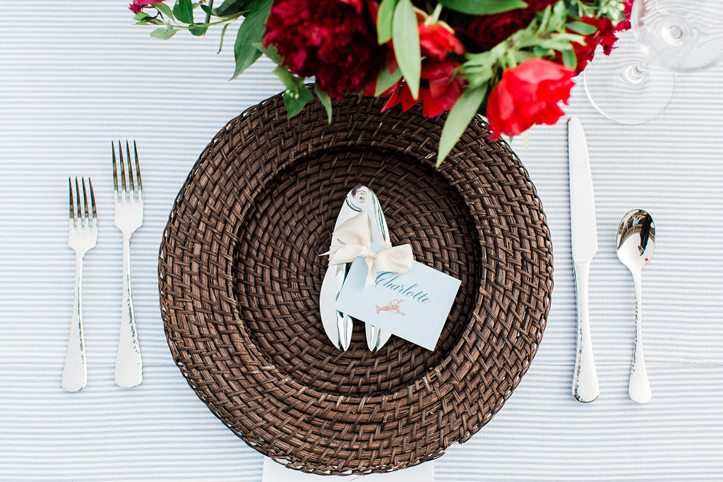 Michigan event design of place setting