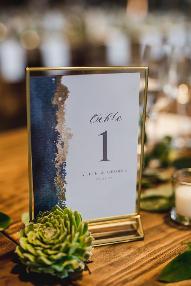 Table number for Southwest Michigan wedding