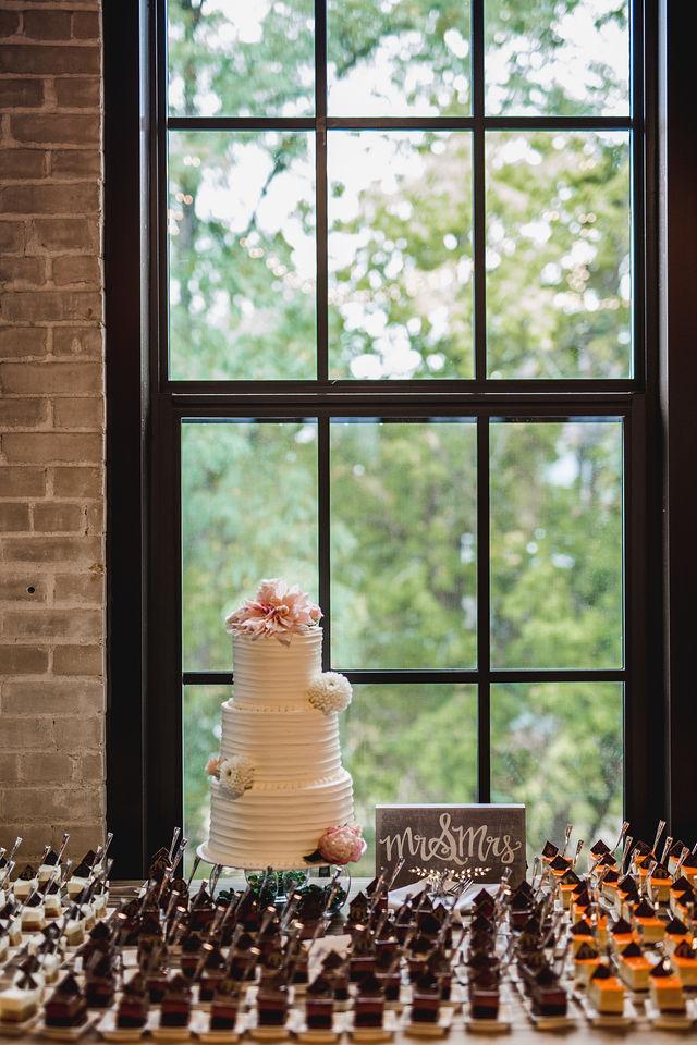 Southwest Michigan wedding dessert table