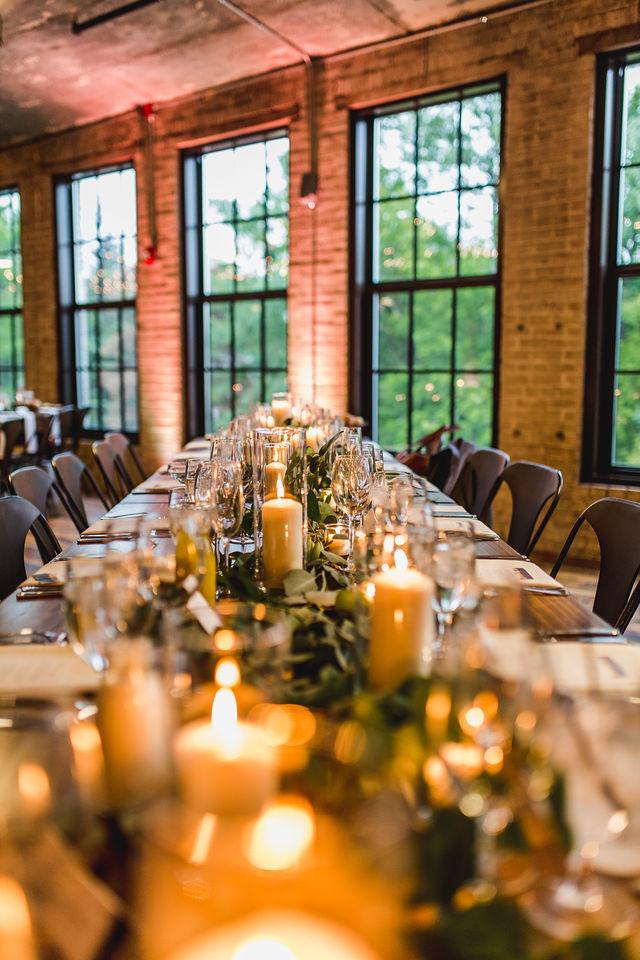 Southwest Michigan wedding table decor