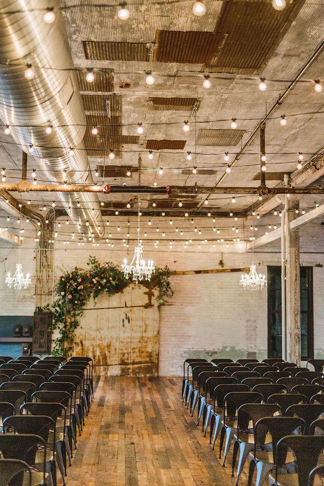 Southwest Michigan wedding venue ceremony chairs setup