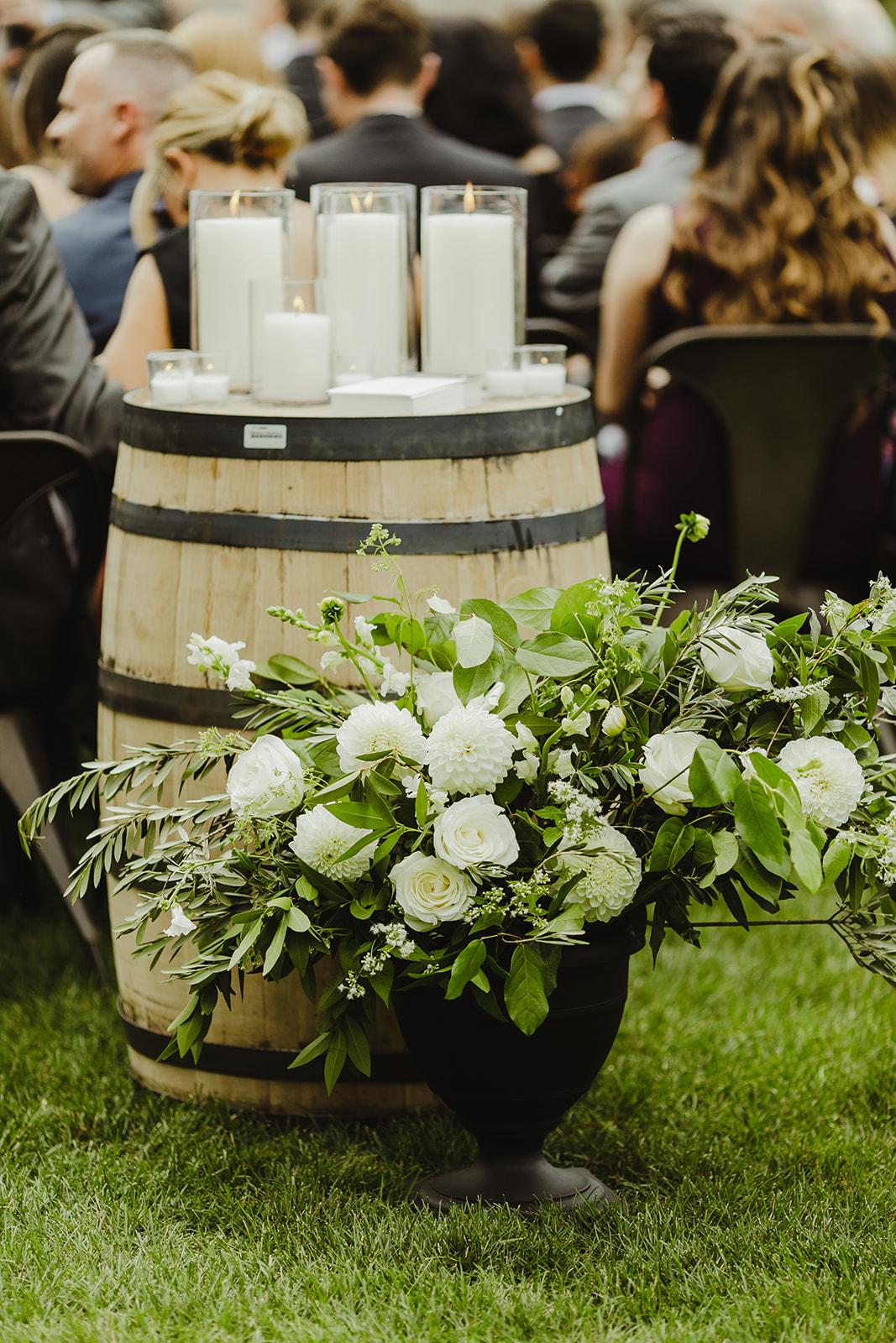 Ceremony floral arrangement