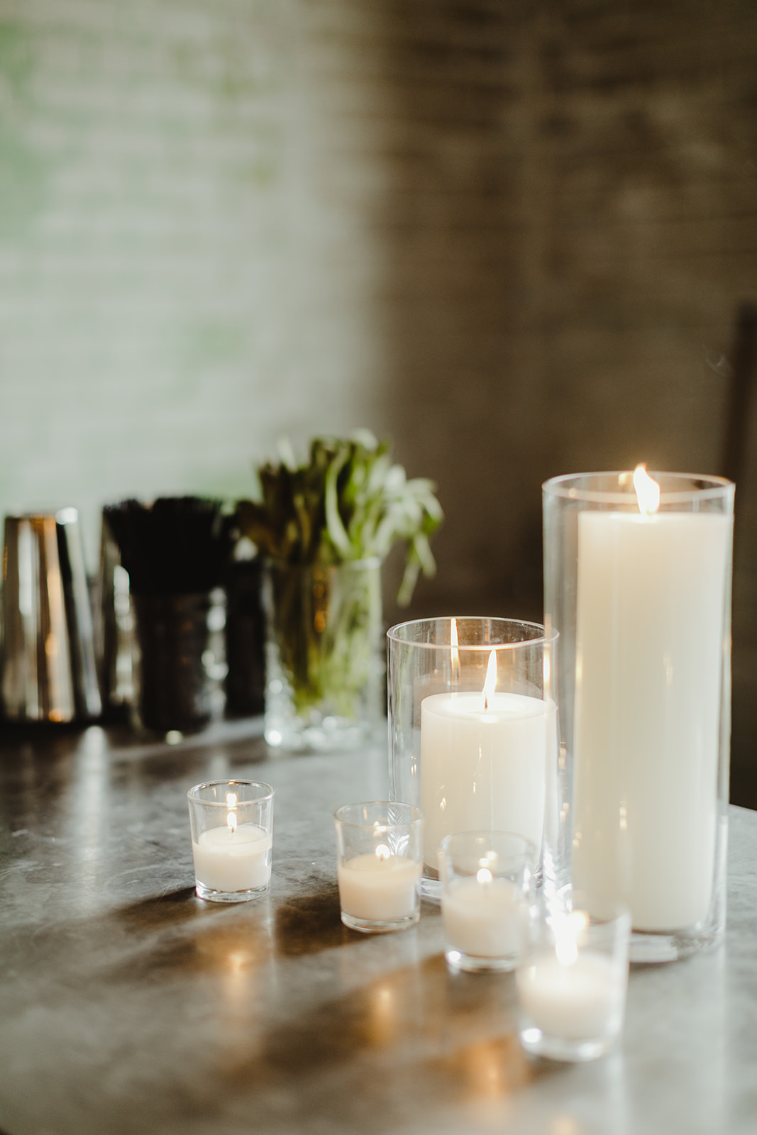 Candles on a bar