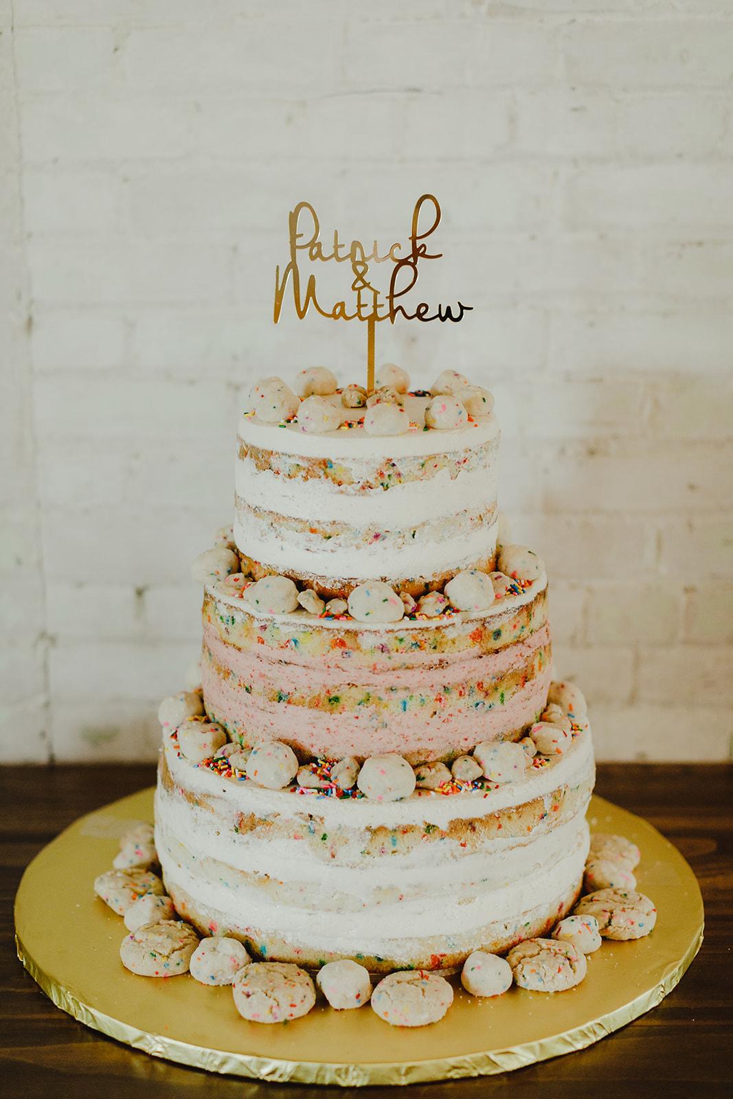 A milk bar wedding cake