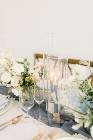 Table decor for elopement wedding