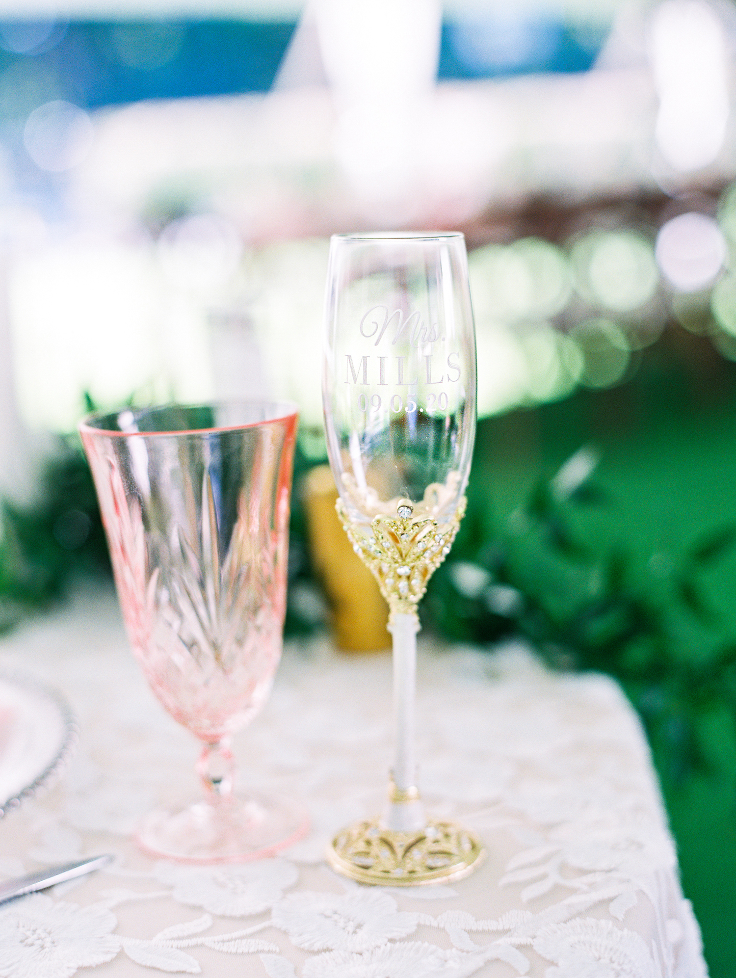Champagne glass at Apple Blossom Resort wedding