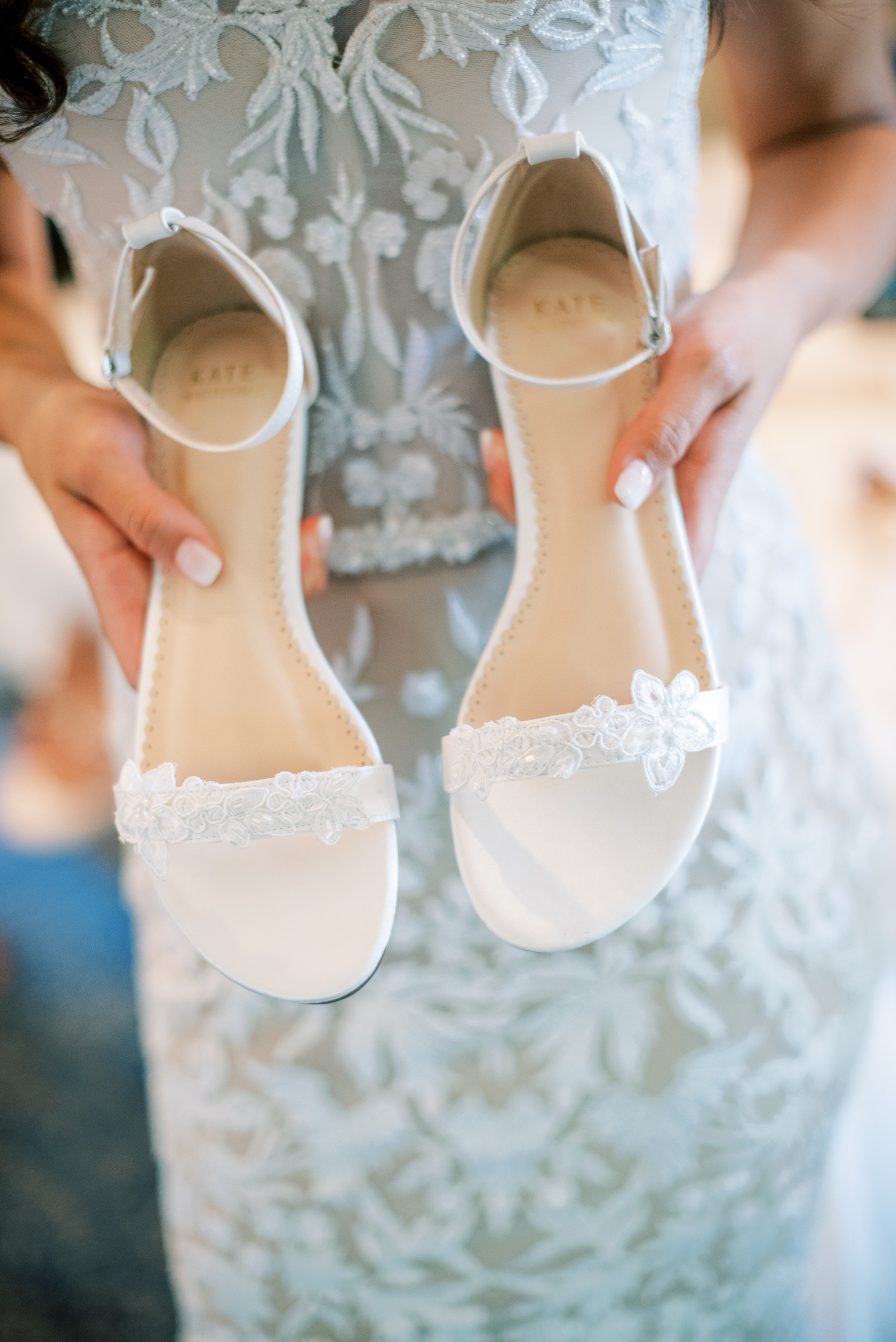 Brides shoes for Apple Blossom Resort wedding