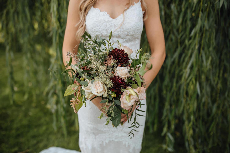Bridal bouquet at Aurora Cellars wedding