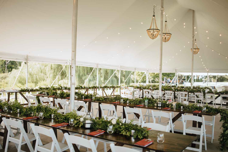 Aurora Cellars wedding tent setup