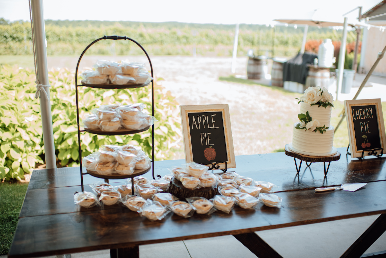 Dessert table of Aurora cellars wedding