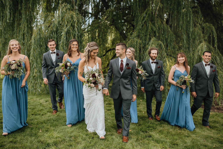 Bridal party at Aurora Cellars wedding