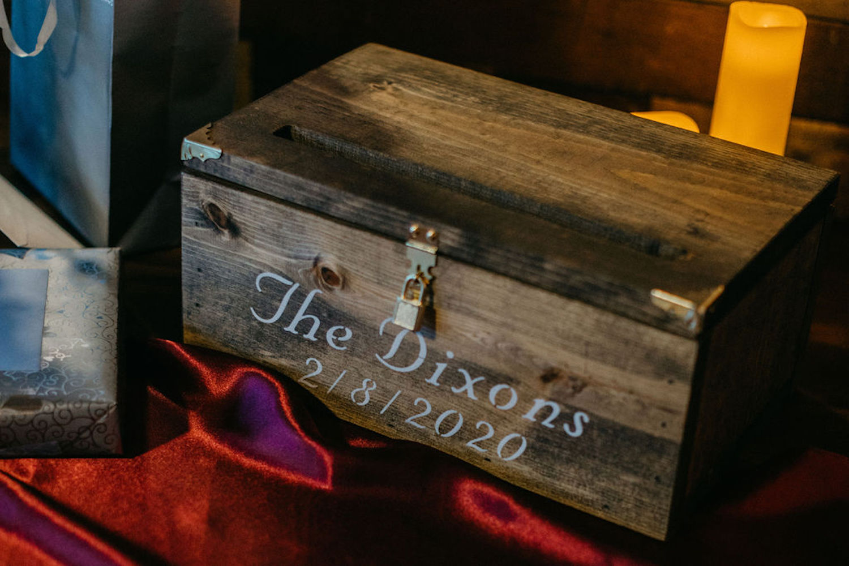 Card box at Journeyman Distillery wedding