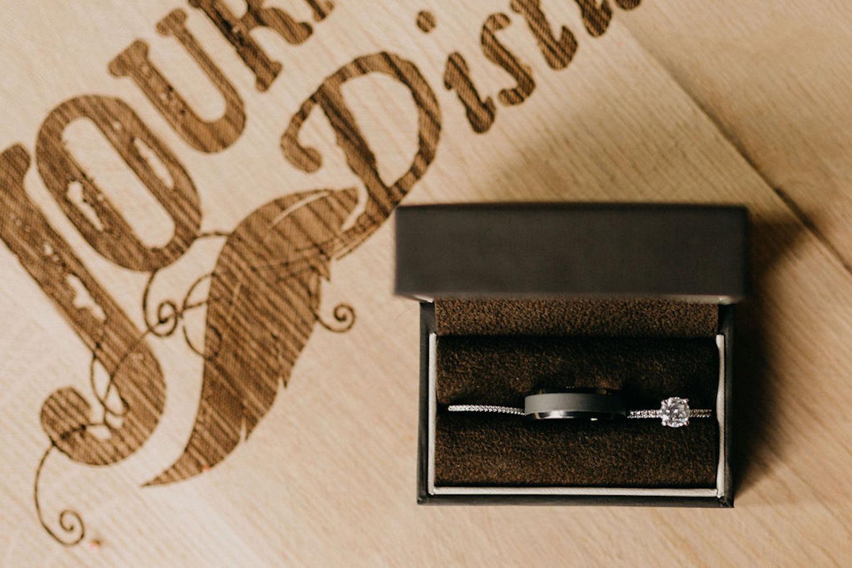 Journeyman Distillery wedding rings