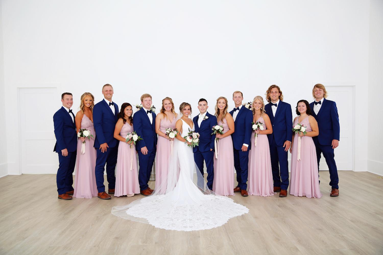 Bridal party of kalamazoo michigan wedding