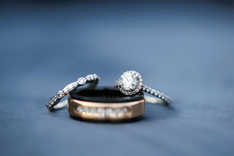 Wedding rings of kalamazoo Michigan wedding