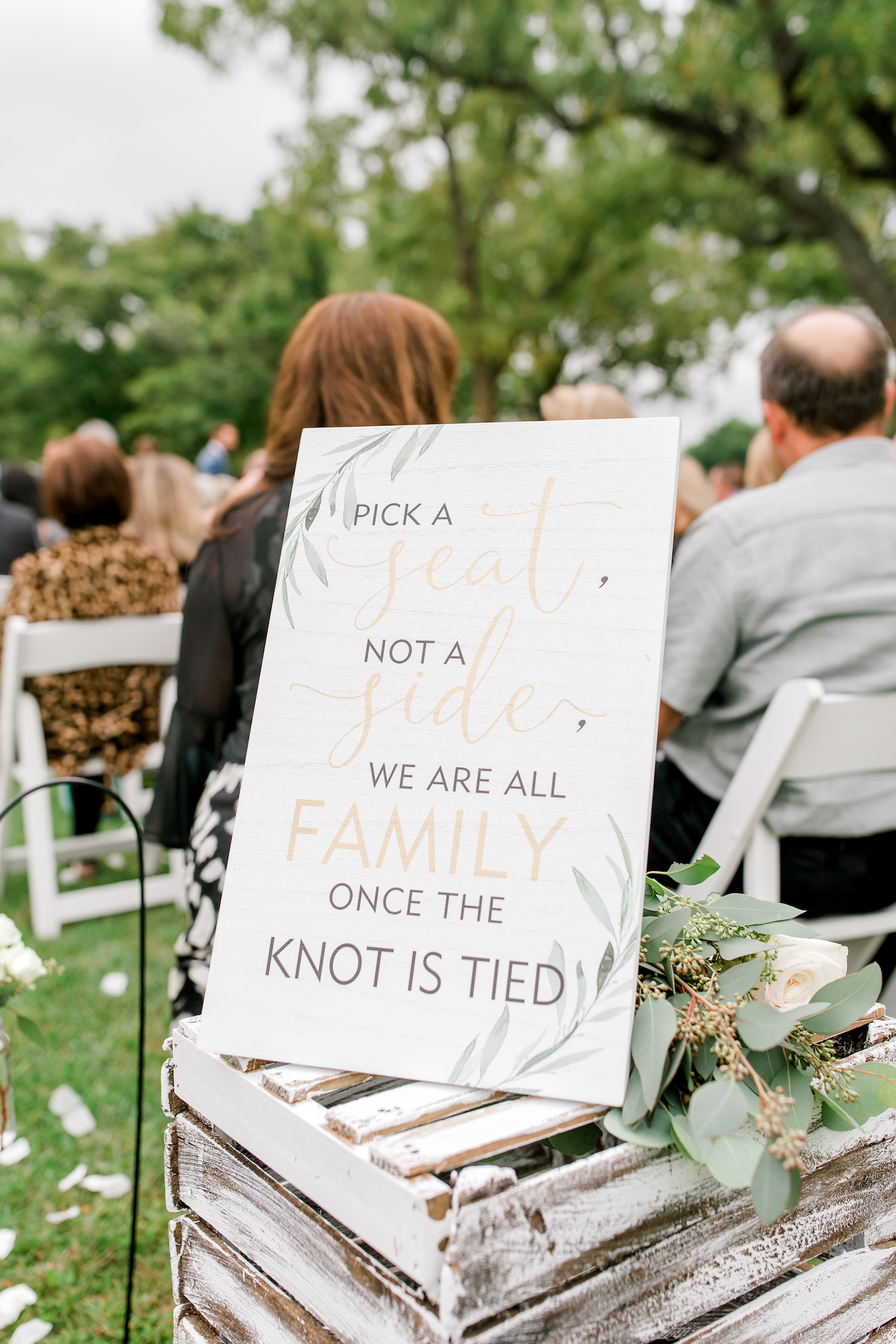 Wallinwood Springs Golf Course wedding ceremony sign
