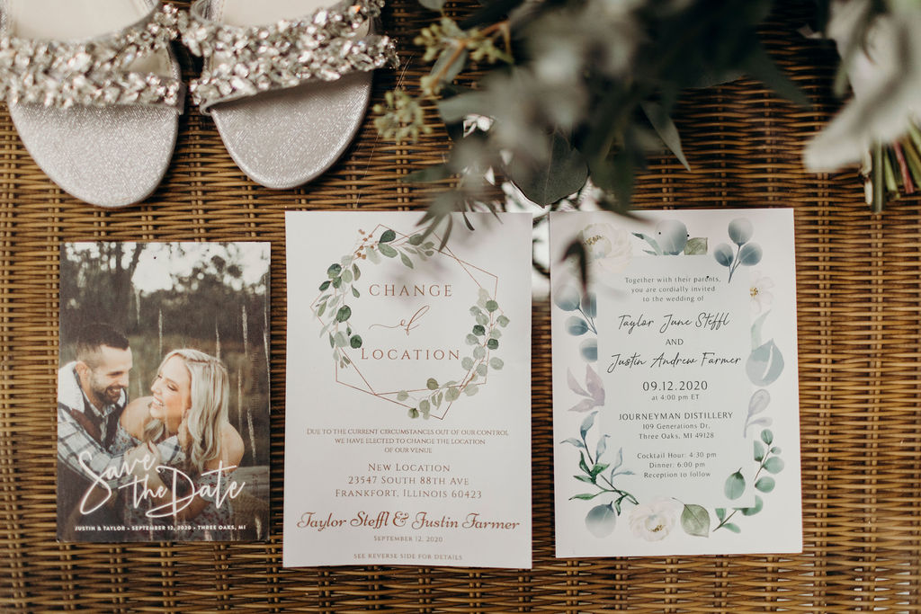 Stationaries for Frankfort, IL Wedding
