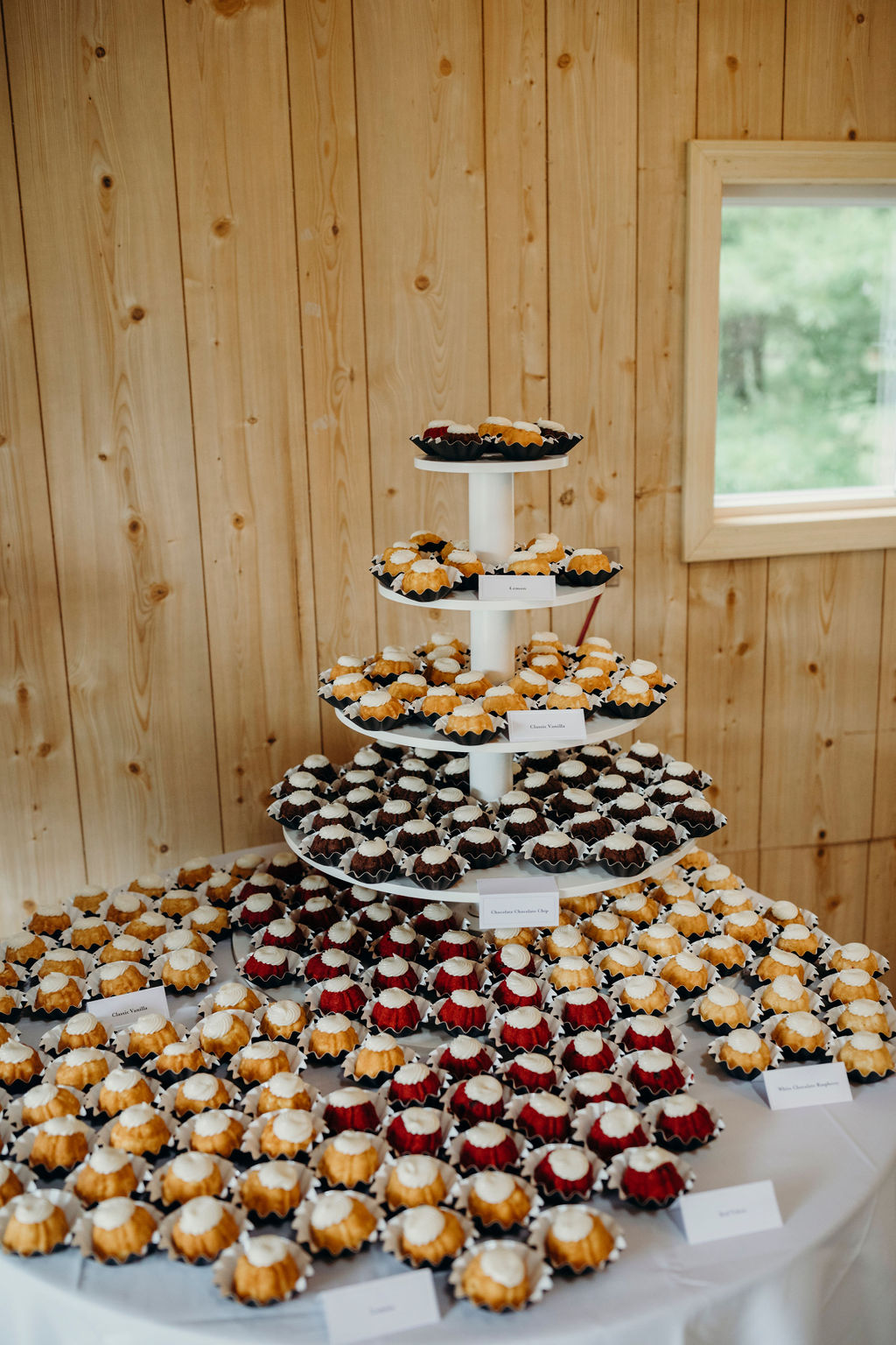 Mini bundt cakes display for Frankfort, IL Wedding