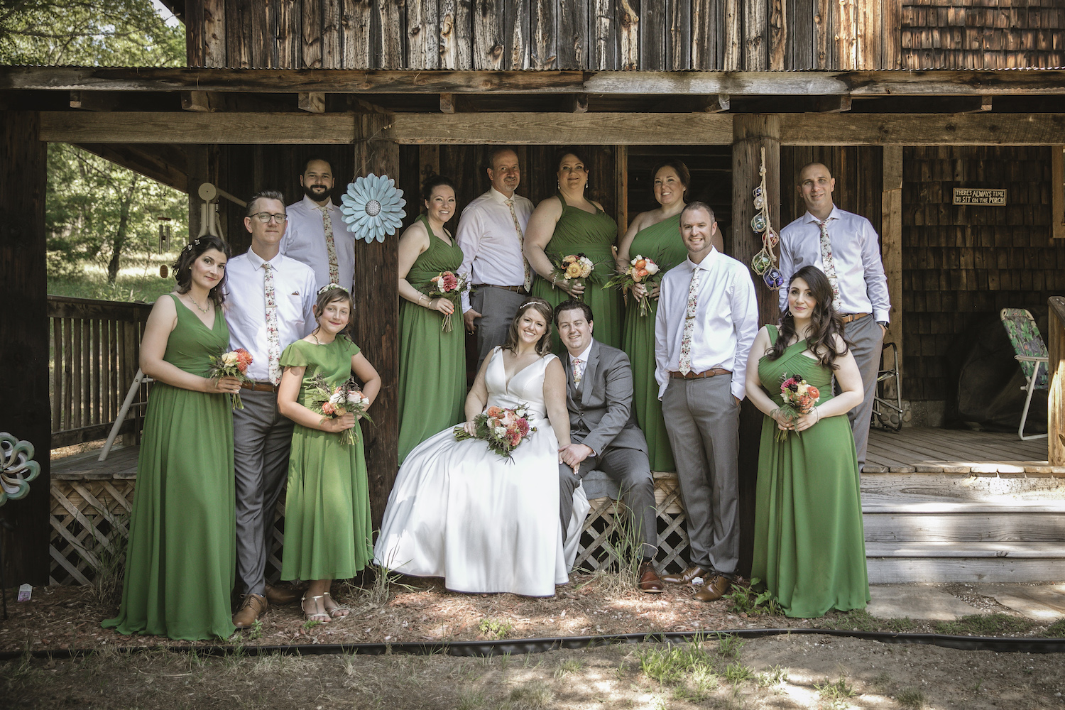 Higgins Lake wedding bridal party