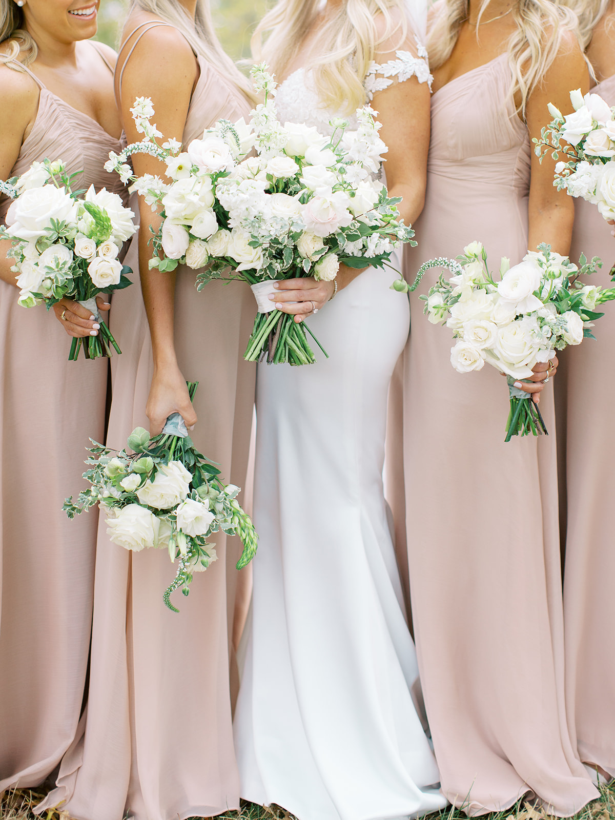Bridal parties bouquets for Ritz Charles wedding