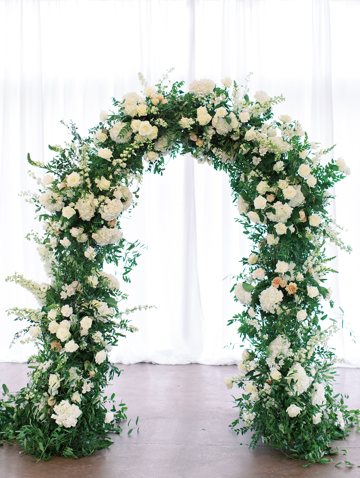 Floral arch of Ritz Charles wedding