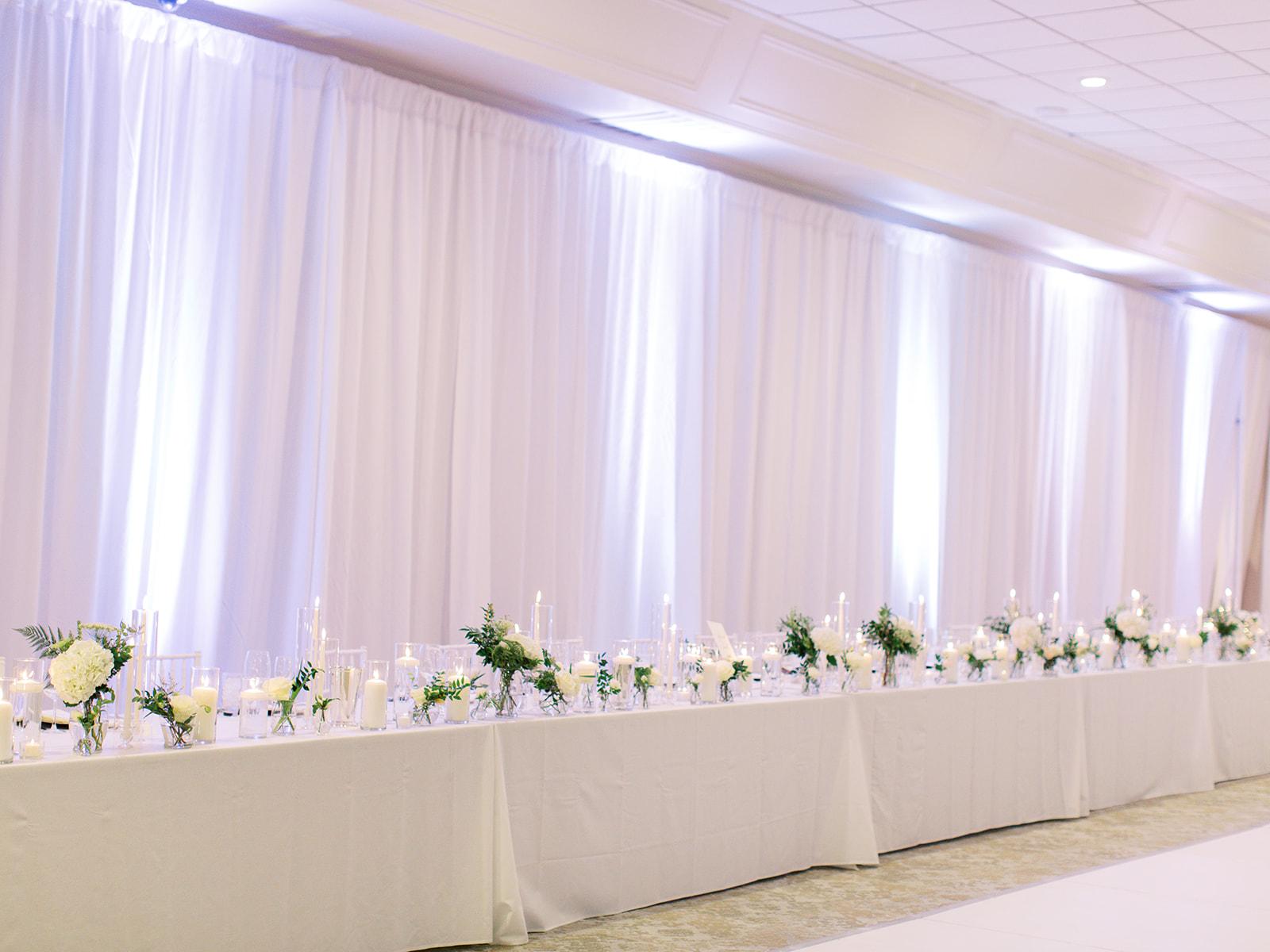 Ritz Charles wedding head table