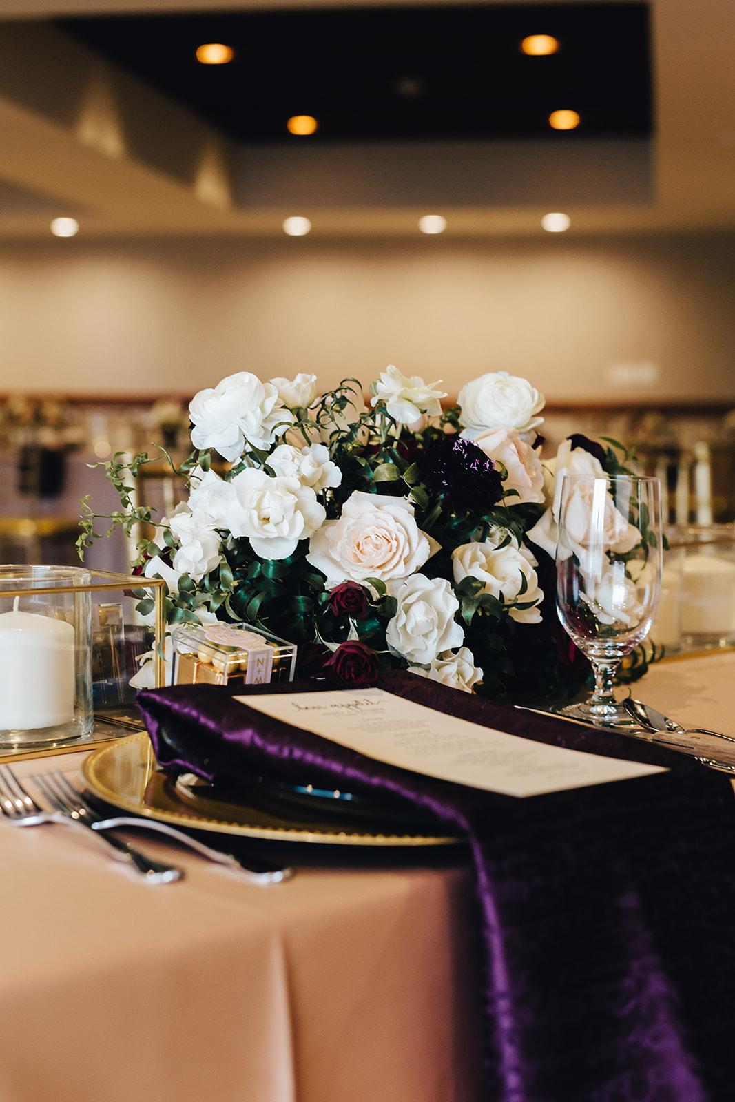 Table decor for West Bay Beach wedding