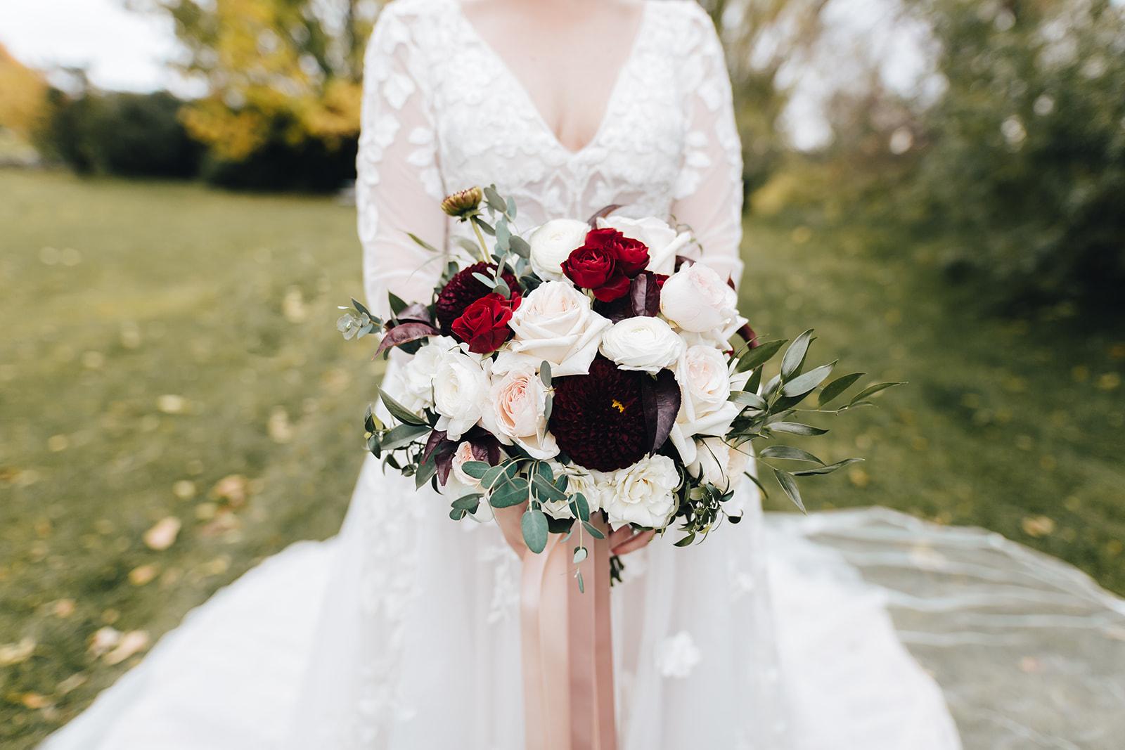 West Bay Beach wedding brides bouquet