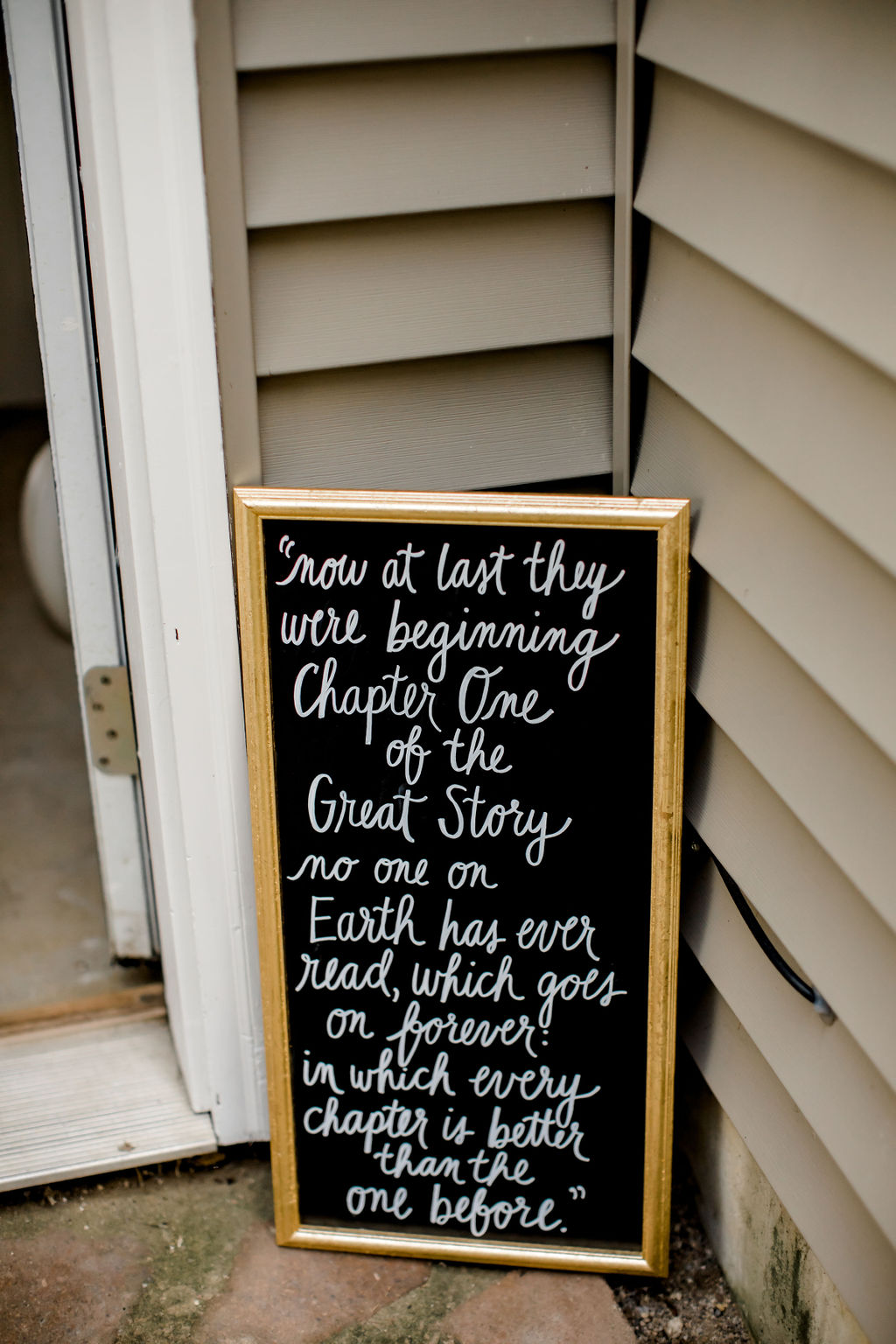 Jackson, MI wedding signage with quote