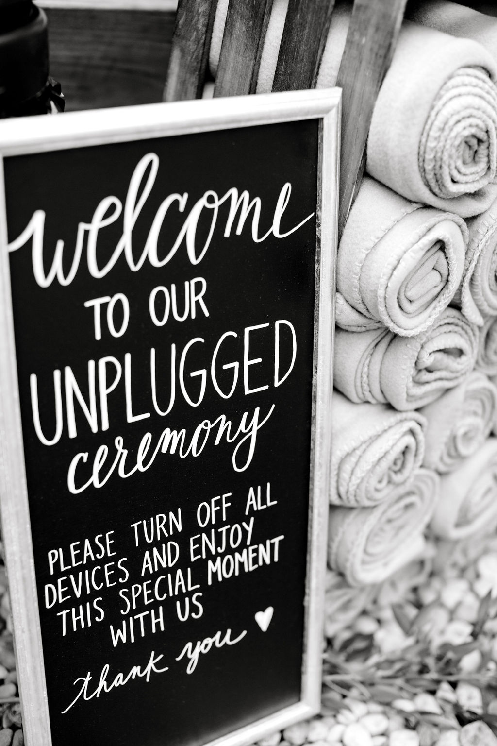Unplugged ceremony signage