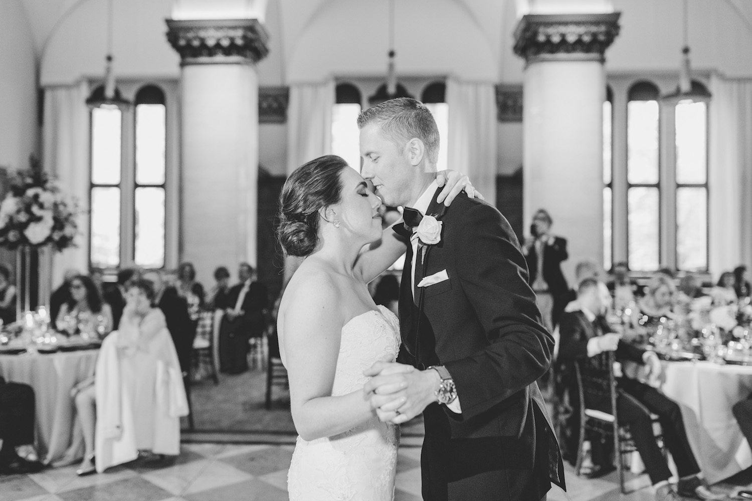 Bride and grooms first dance at City Flats Hotel wedding