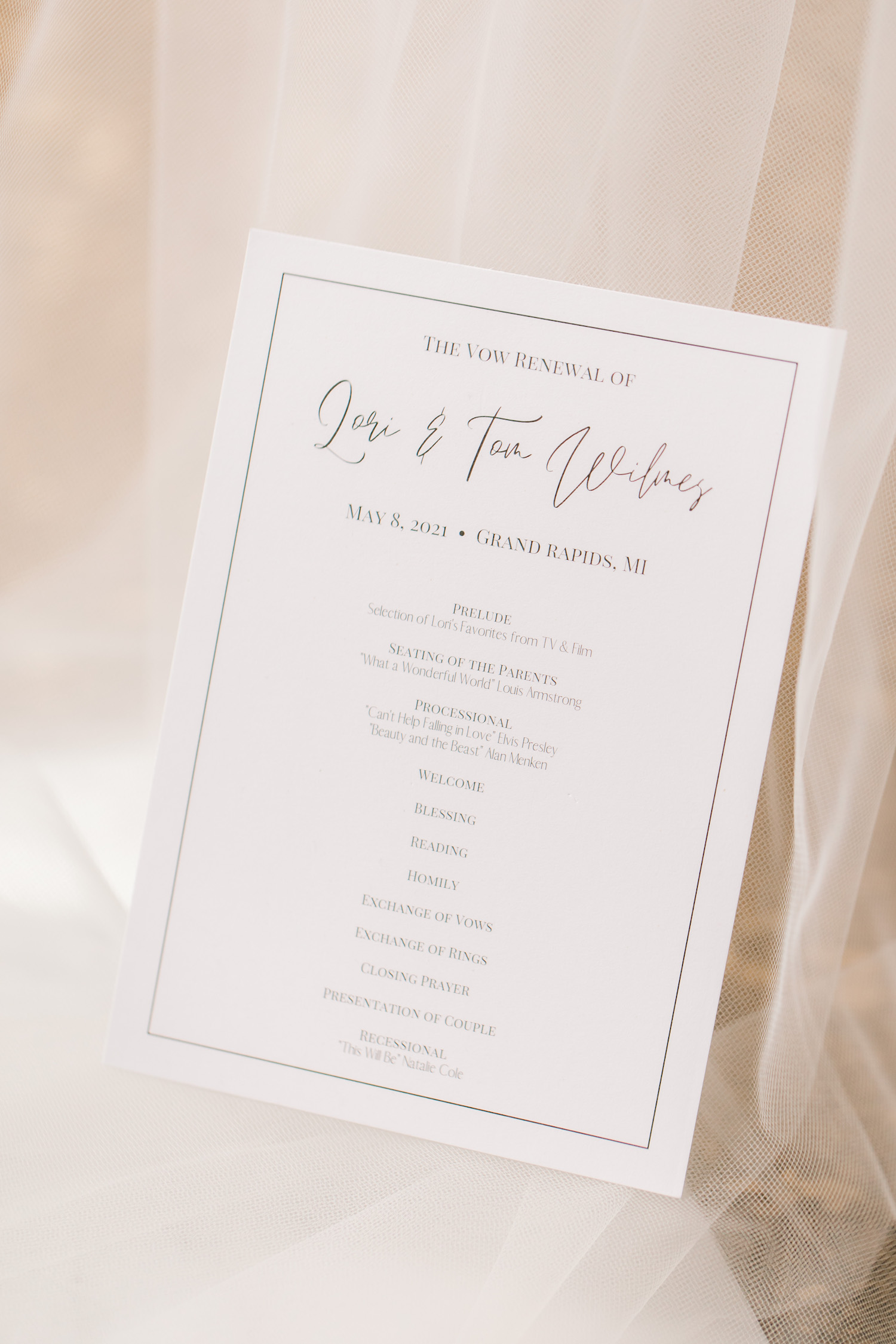 Vow renewal stationary