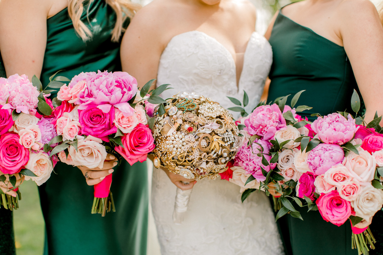 Bridal party bouquets for City Flats Hotel wedding